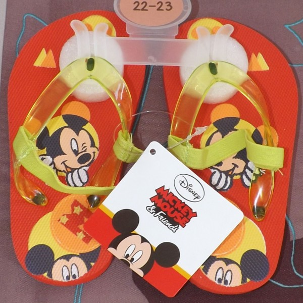 Paire de Tong Mickey - Rouge